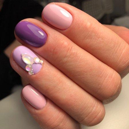 Работа ученицы ногтевой студии